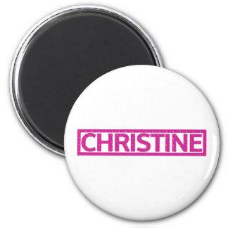 Christine Stamp 6 Cm Round Magnet
