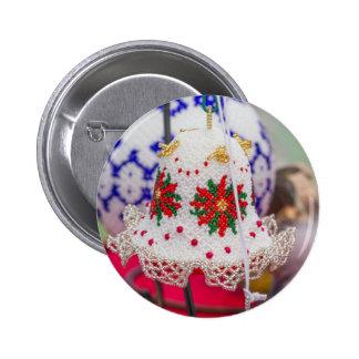 christmaas decoration 6 cm round badge