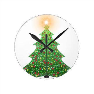 christmas-1081473 round clock