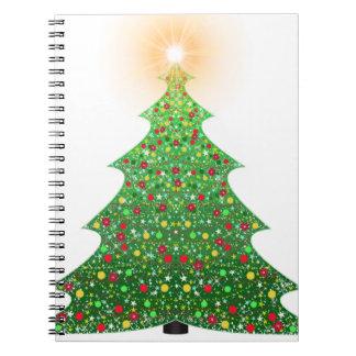 christmas-1081473 spiral notebook