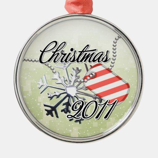Christmas 2011 Candy Cane Tag Christmas Ornament