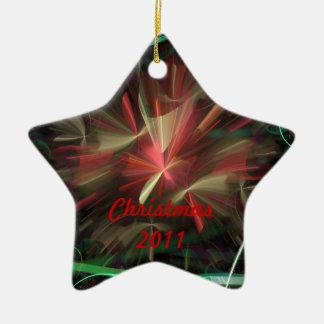 Christmas 2011 /  New Year's 2012 Ceramic Star Decoration