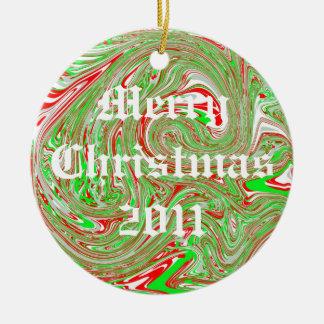 Christmas 2011 round ceramic decoration