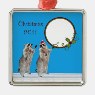 Christmas 2011 Square Photo Ornament