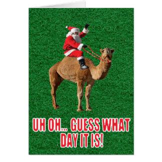 Christmas 2013 Hump Day Camel and Santa Card