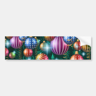 Christmas 2017 and New Year Greetings Card Bumper Sticker