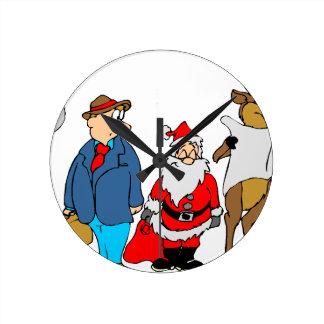 christmas-2879263 round clock