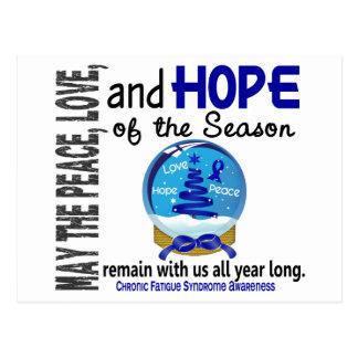 Christmas 3 CFS Chronic Fatigue Syndrome Postcard