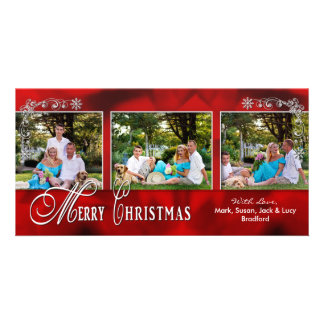 CHRISTMAS 4 X 8 PHOTO CARD - Red