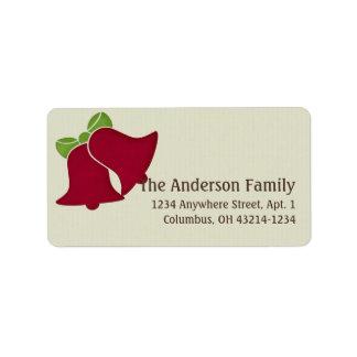 Christmas 9 : Holiday Bells Return Address Address Label