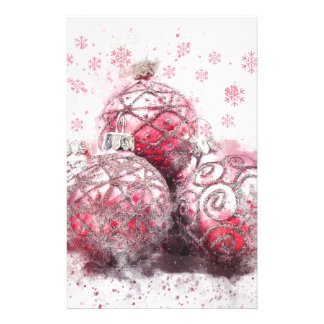 Christmas abstract decoration red balls stationery