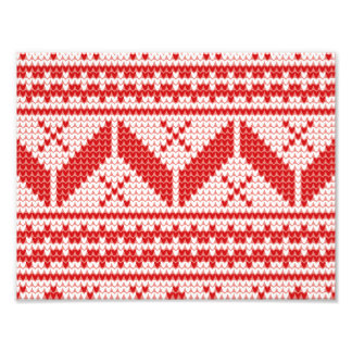 Christmas Abstract Jumper Knit Pattern Photograph