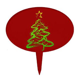 Christmas abstract tree cake pick