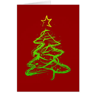 Christmas abstract tree greeting card