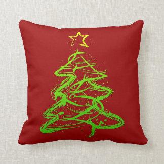 Christmas abstract tree pillows