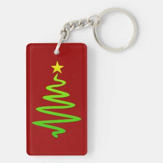 Christmas abstract tree acrylic keychain