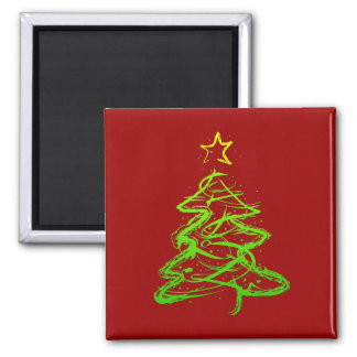 Christmas abstract tree magnets
