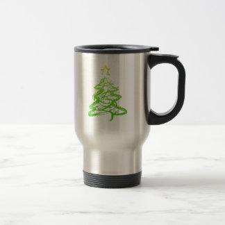 Christmas abstract tree mugs