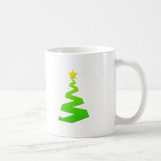Christmas abstract tree coffee mugs