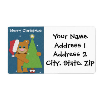 Christmas Address Labels (Mr. Bear)