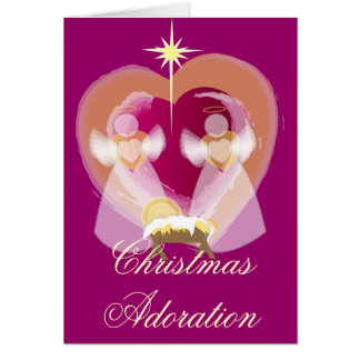 Christmas Adoration - Customized Card