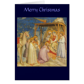 Christmas - Adoration of the Magi - Giotto Card