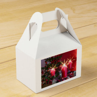 Christmas, Advent, burning pink candles festively, Favour Box