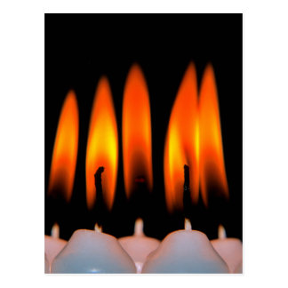 Christmas, Advent, burning white candles Postcard