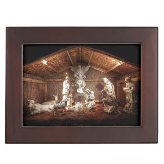 Christmas Advent Jesus Nativity Manger Scene Memory Box