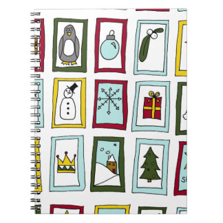 Christmas advent note books