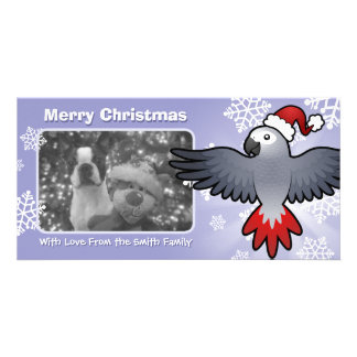Christmas African Grey / Amazon / Parrot Personalised Photo Card