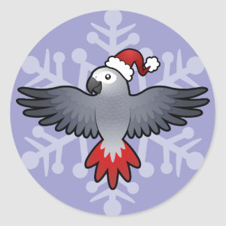 Christmas African Grey / Amazon / Parrot Sticker