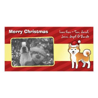 Christmas Akita Inu / Shiba Inu Customised Photo Card