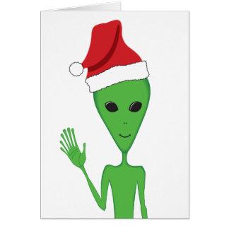 Christmas Alien Season s Greetings Greeting Card