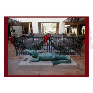 Christmas Alligator Holiday Humor Card