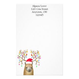 Christmas Alpaca Stationery