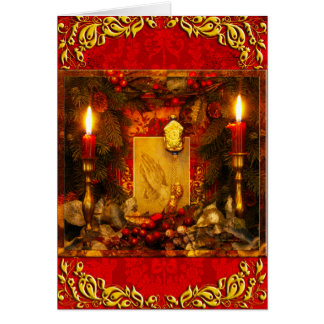 """Christmas Altar"" ~ Fancy Greeting Card 5""X7"""