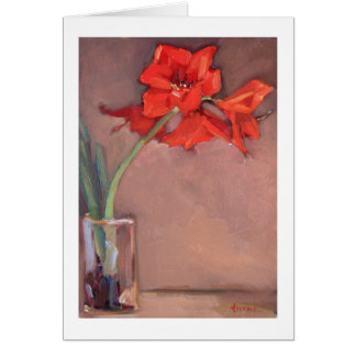 Christmas Amaryllis Card