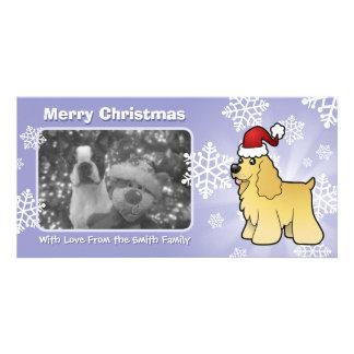Christmas American Cocker Spaniel Customised Photo Card