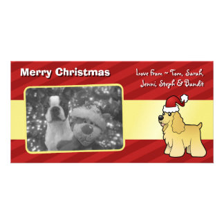 Christmas American Cocker Spaniel Photo Card
