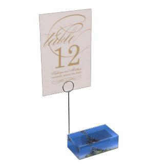 christmas and balls and tree table card holder