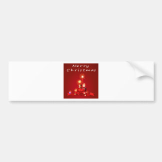 Christmas and candles bumper sticker