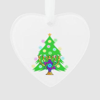 Christmas and Hanukkah Interfaith Ornament