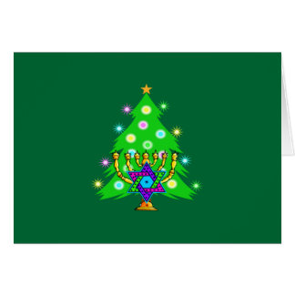 Christmas and Hanukkah Together Greeting Card