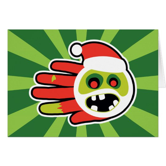 Christmas and Holiday Zombie Santa no cookies Card