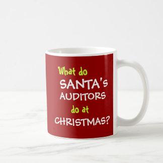 Christmas and Santa Auditor Joke Basic White Mug