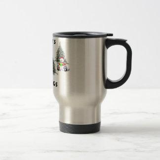 Christmas and Seasons Greetings Friends Coffee Mugs