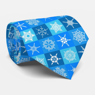 Christmas and snowflake tie