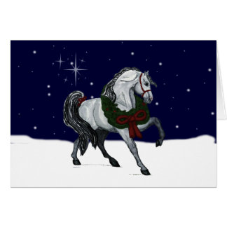 Christmas Andalusian Horse Greeting Card