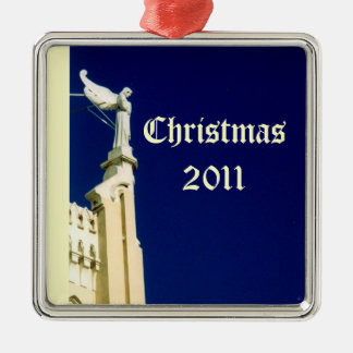 Christmas Angel 2011 Silver-Colored Square Decoration